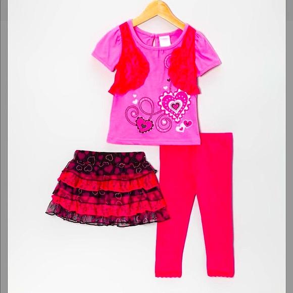 Macy's Nannett Girl 3 pcs. Outfit